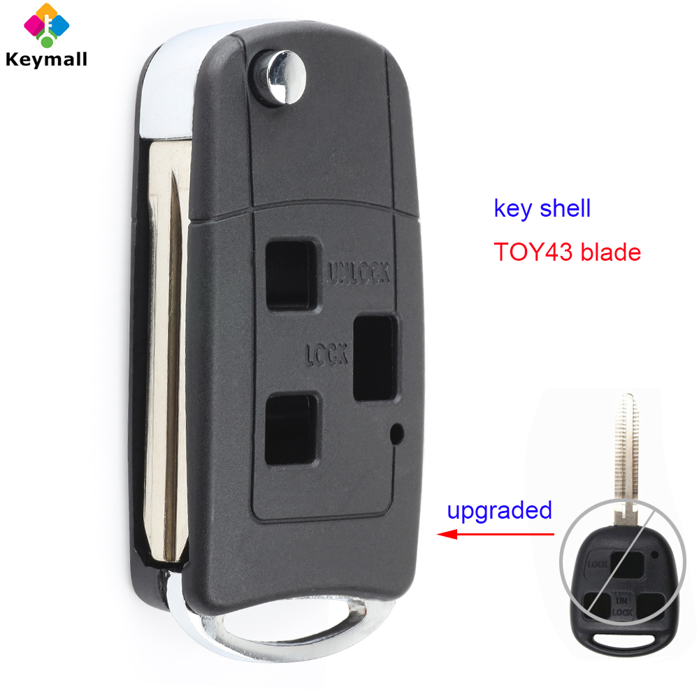 Replacement for Toyota 07-08 FJ Cruiser Highlander Remote Car Key Fob Shell Case