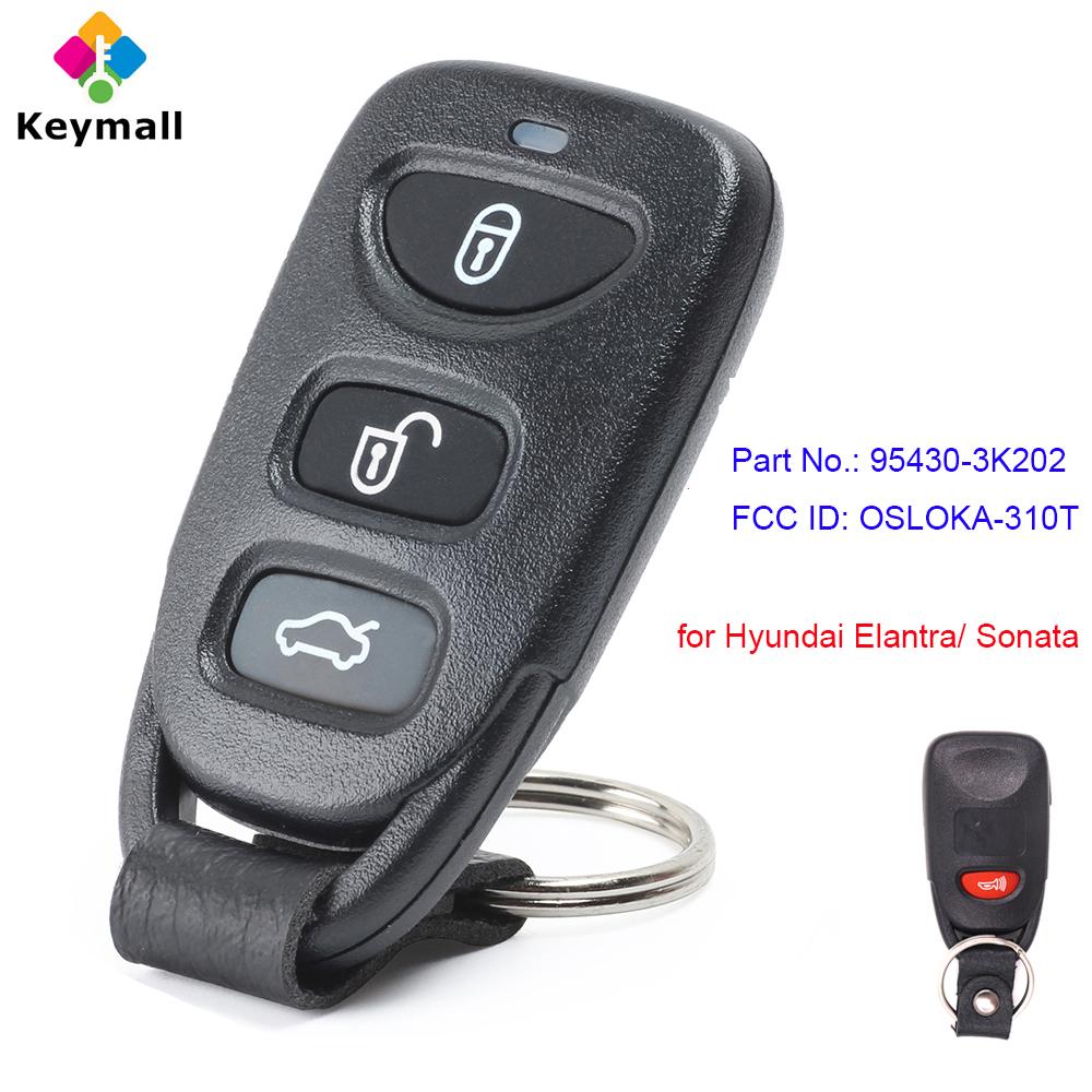 Keyless Entry Remote Key Fob for 2006-2014 Hyundai Elantra Sonata OSLOKA-310T