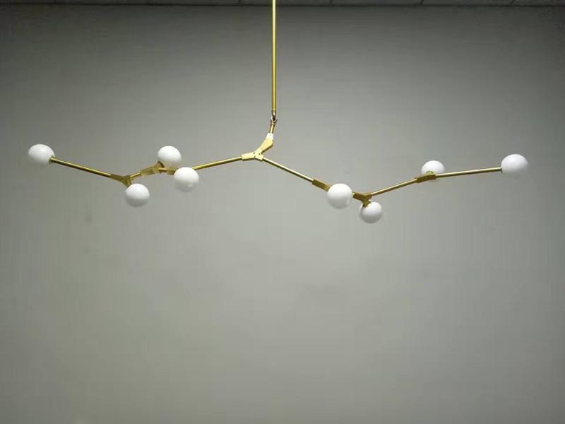 Glass Cherry Bomb Pendant Light Chandelier Gold Black Ceiling Lamp Fixture New