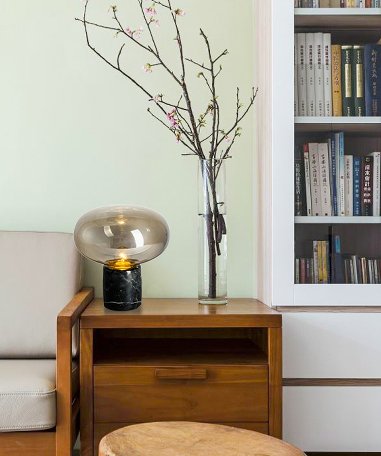 Modern Marble Glass Bedside Table Lamp Nordic Study ...