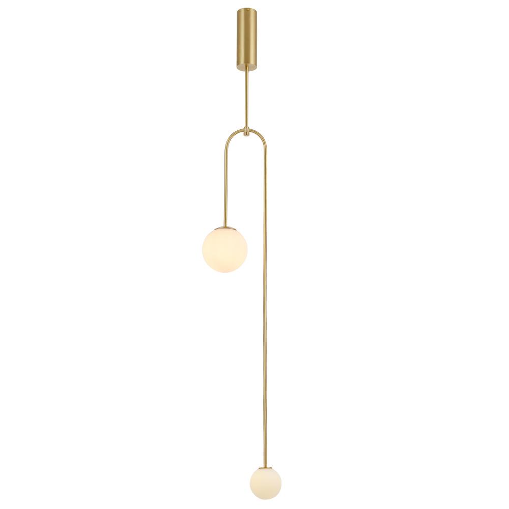 Modern u shaped gold pendant light white glass chandelier ceiling