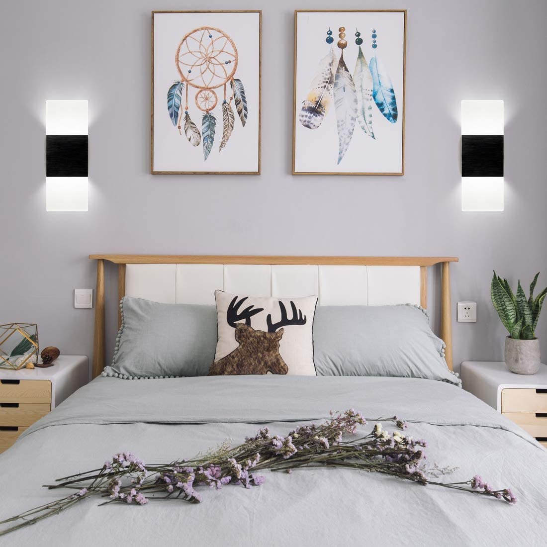 LED Wall Light Wall Sconce Plug in Cord with on/Off Switch ...
