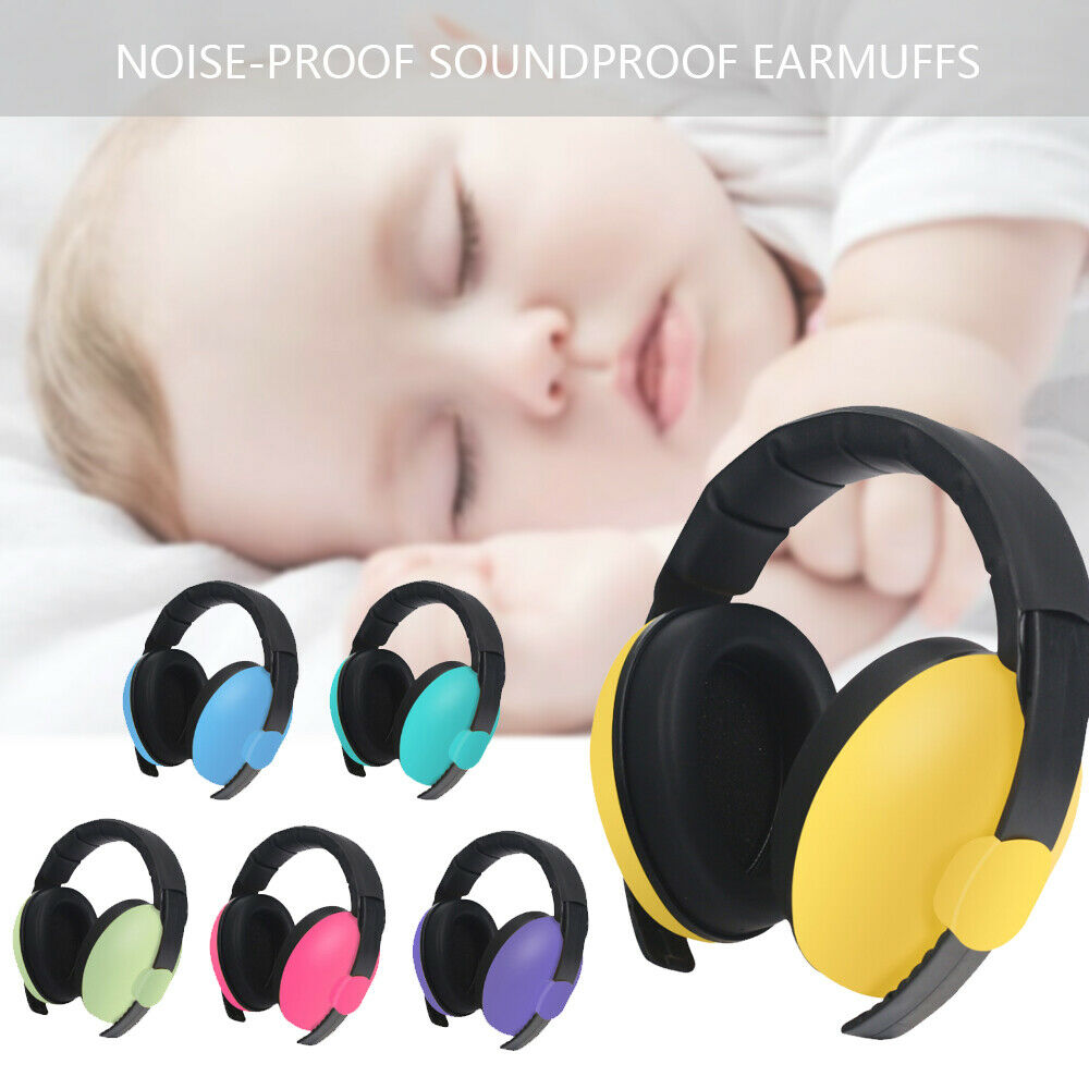 Kids childs baby ear muff defender noise reduction comfort festival protectio D0