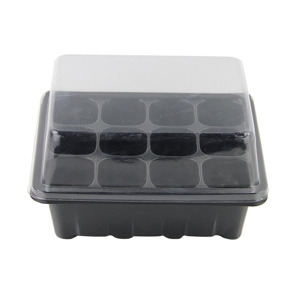Details about 12 Cells Hole Nursery Pot Plant Seeds Grow Box Tray Insert  Propagation Seed Case