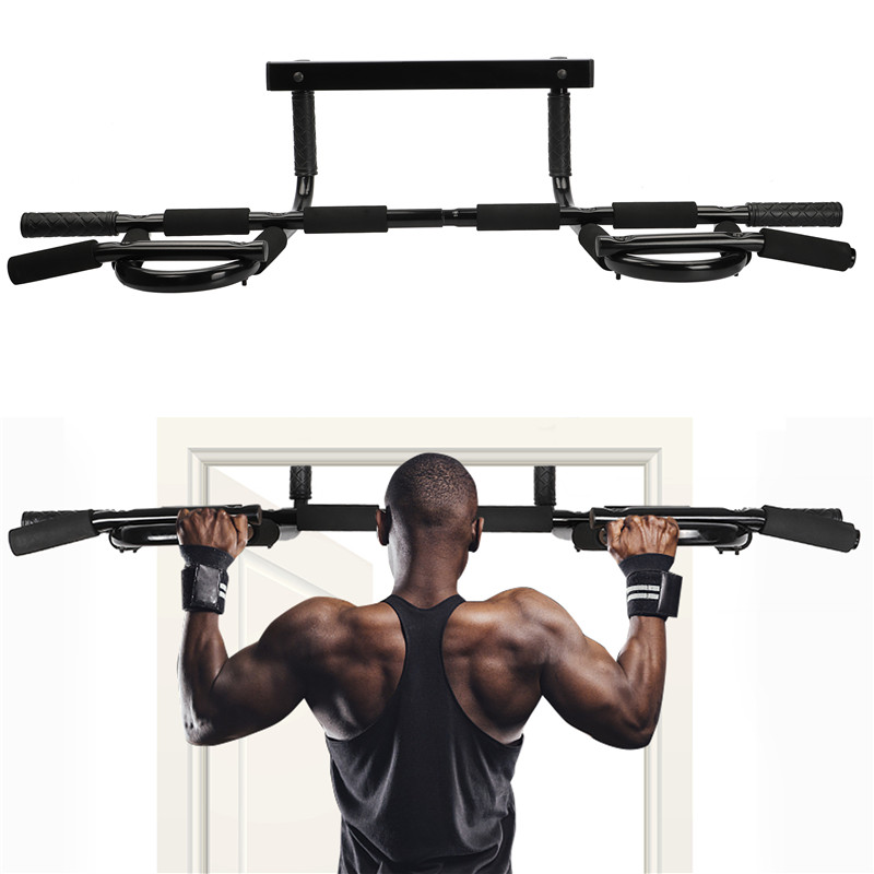 Us Pull Up Bar Exercise Heavy Duty Doorway Fitness Home Gym Upper Body Workout Ebay