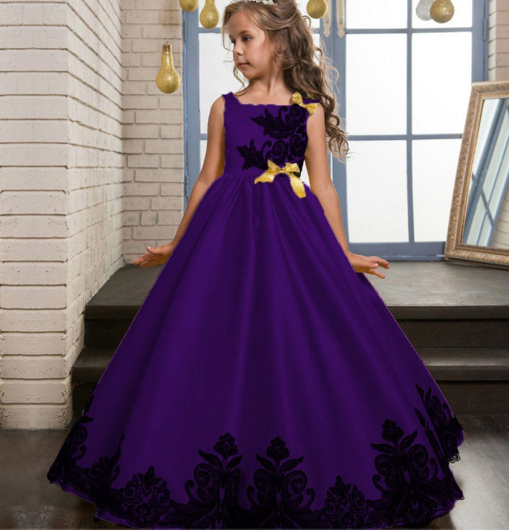 Flower Girl Princess Dress Kid Party Dresses Wedding Pageant Formal