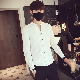 Men-039-s-Slim-Stand-Collar-T-Shirts-Long-Sleeve-Cotton-Casual-Shirts-Tops-Fashion thumbnail 11