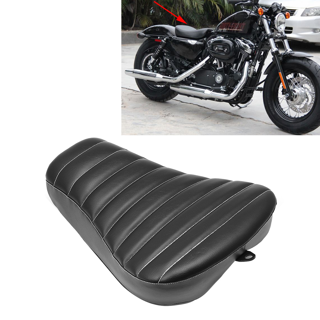 1~20PCS Motorcycle Seat Leather Pad For Harley Sportster XL883 XL1200 04-15