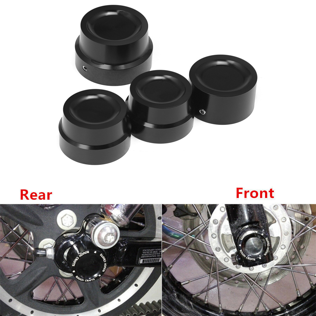 Shallow Cut Front Axle Cap Nut Cover For Harley Sportster XL 883 1200 Part US TU