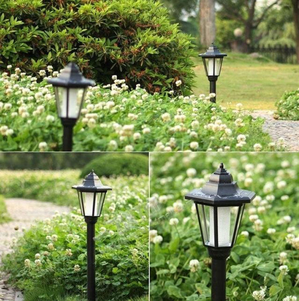 Solar Power Outdoor Garden Security Filament LED Lamp Post
