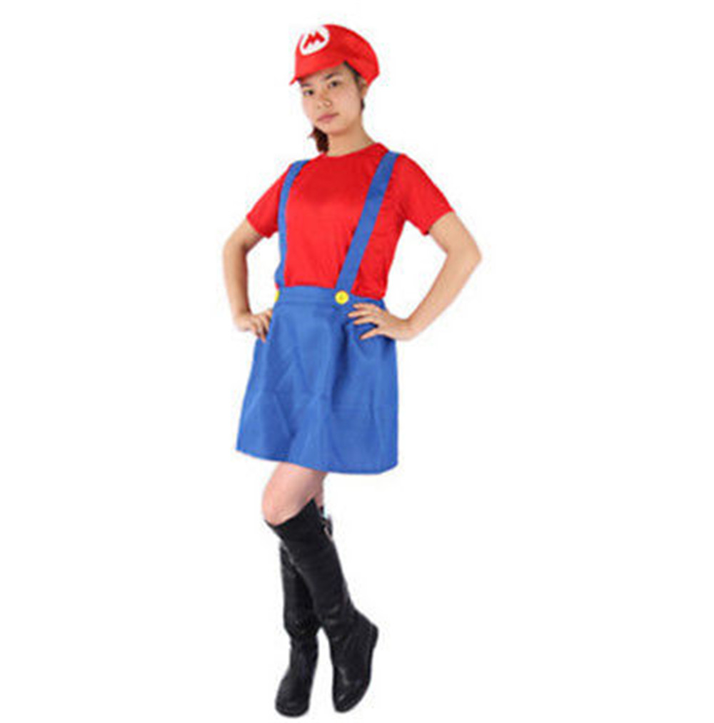 super mario bros games cosplay costume dress adult kids halloween