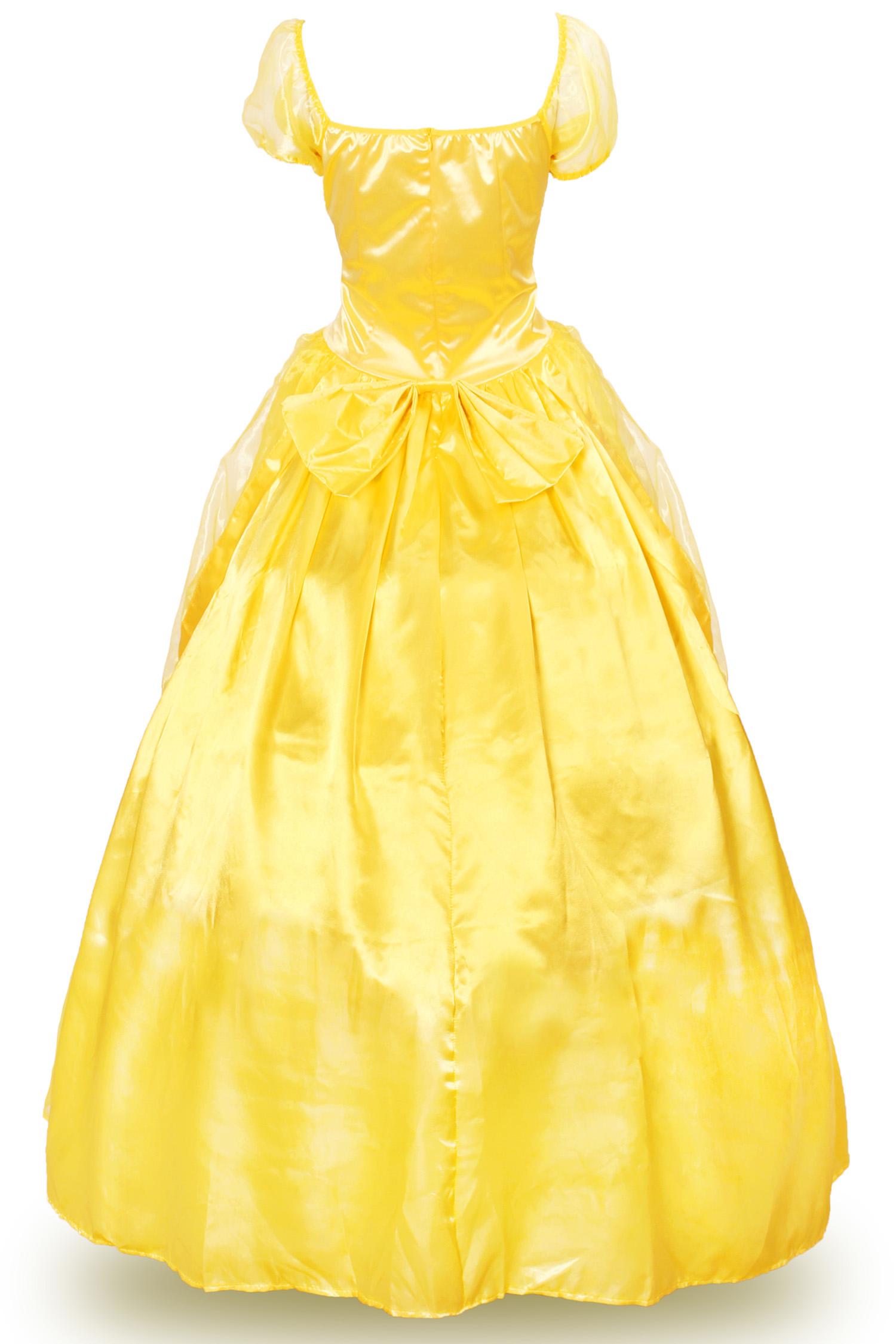 Adult Belle Costume Princess Dress for Women Classic Ball Gown Dress ...