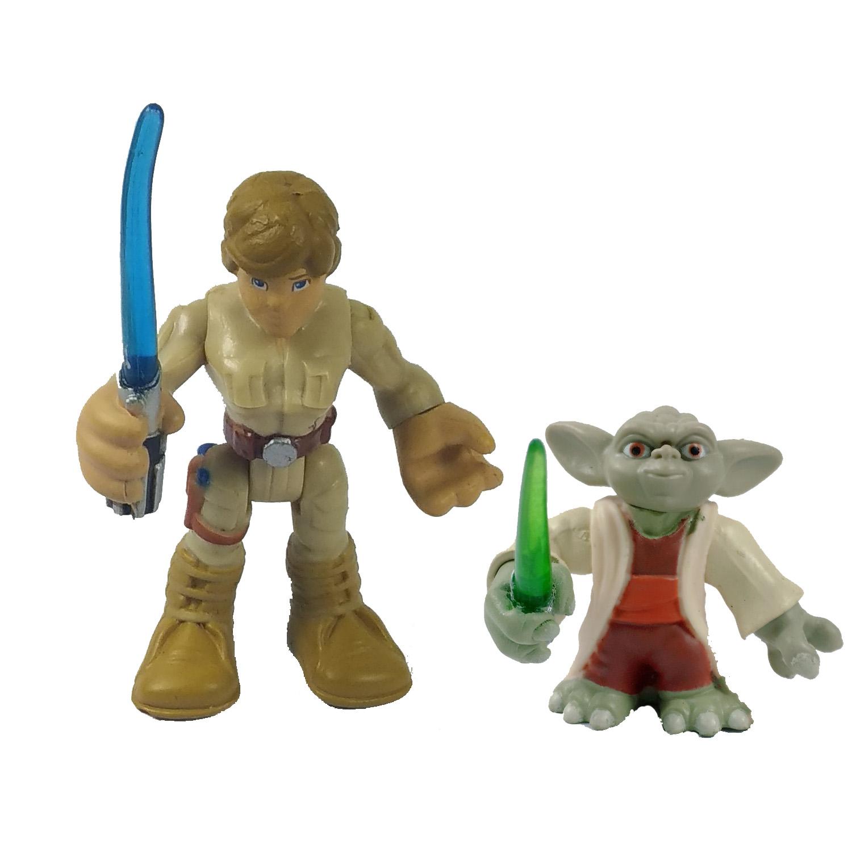 Playskool Star Wars Galactic Heroes /& Força Jedi Yoda Luke Skywalker