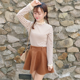 New-Korean-College-Women-Lace-Collar-Long-Sleeve-Stripe-Basic-T-Shirt-Blouse-Top thumbnail 17