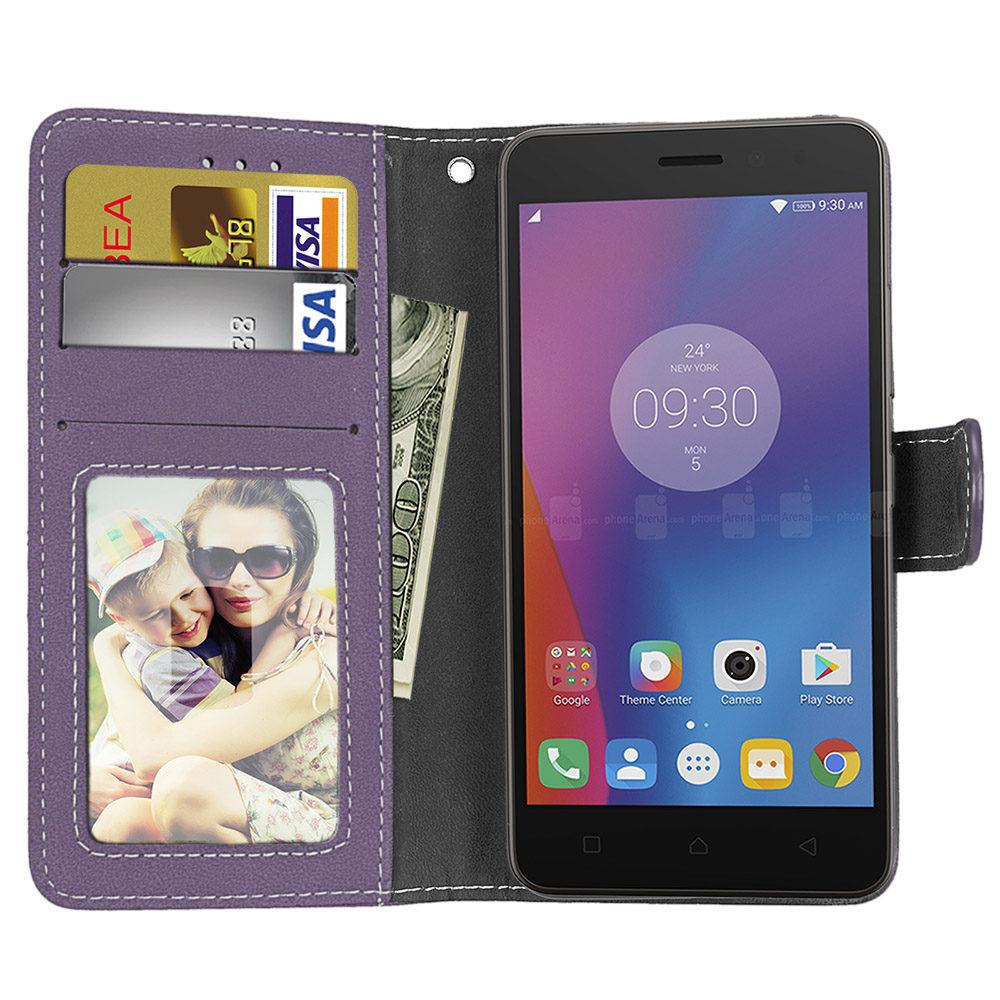 Case Cover Stand Flip Leather Photo Frame Card Holder Wallet Handbag