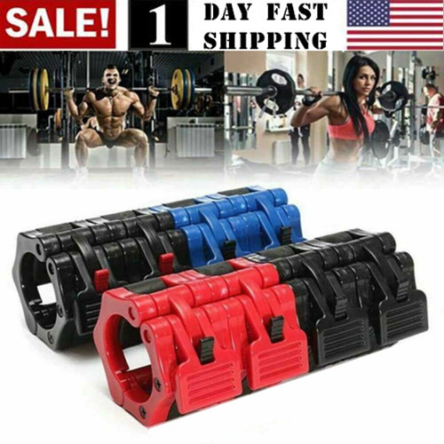 """2/"""" Olympic Bar Collars Barbell Clip Dumbell Clamp Weight Lifting Training Gym HO"""