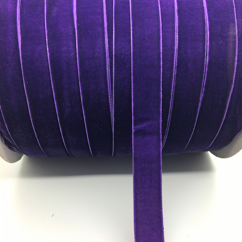 "8Yds Assorted Color 3//8/"" Glitter Velvet Ribbon Headband Clips Bow Decoration"