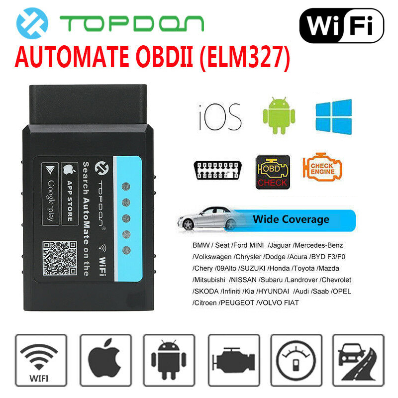 Vehicle Parts & Accessories OBD2 ELM327 Bluetooth Car Scanner