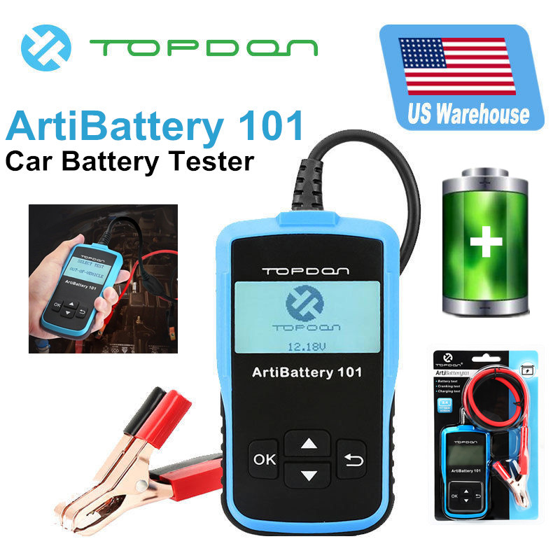 Topdon Artibattery 101 Car Battery Tester Crank Charging System Auto Yzer
