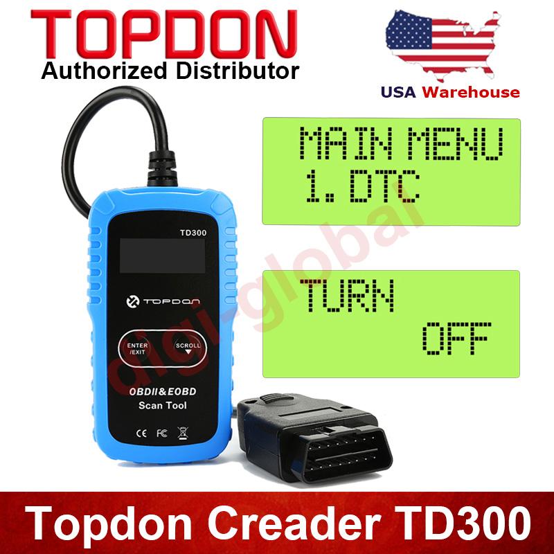 topdon td300 obd2 lecteur de code d faut voiture automatique scanner diagnostic ebay