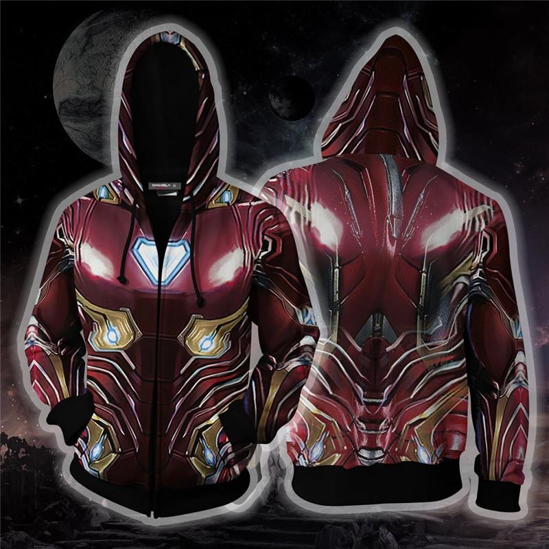 Avengers Iron Man Tony Stark Cosplay Hoodie Sweatshirt Jacket T-Shirt Pants