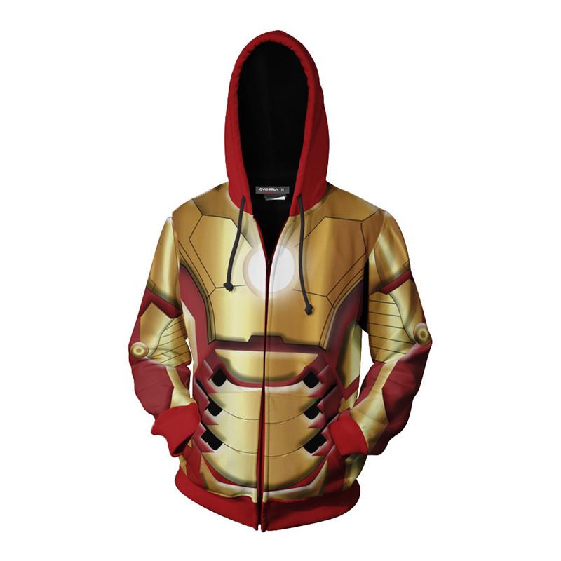 Anime RWBY Qrow Branwen Zipper Jacket Hooded Sweatshirt Coat Cosplay S-5XL