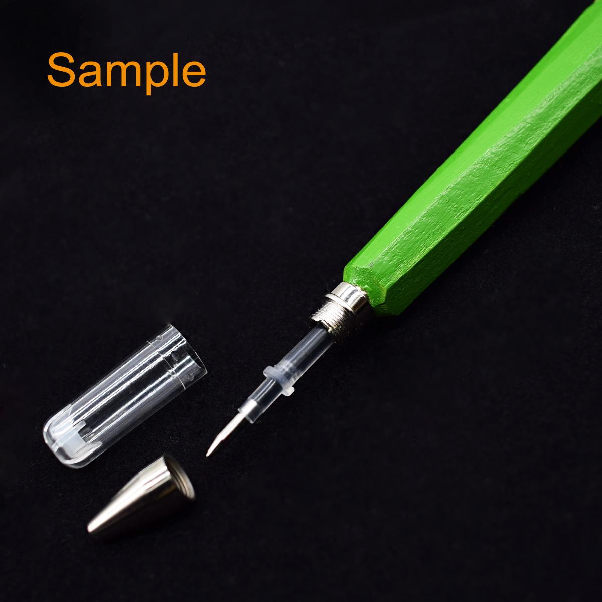 0.5mm Gel Ink Ballpoint Pen School Office Home Décor Handmade 3D Wood Carved Pen