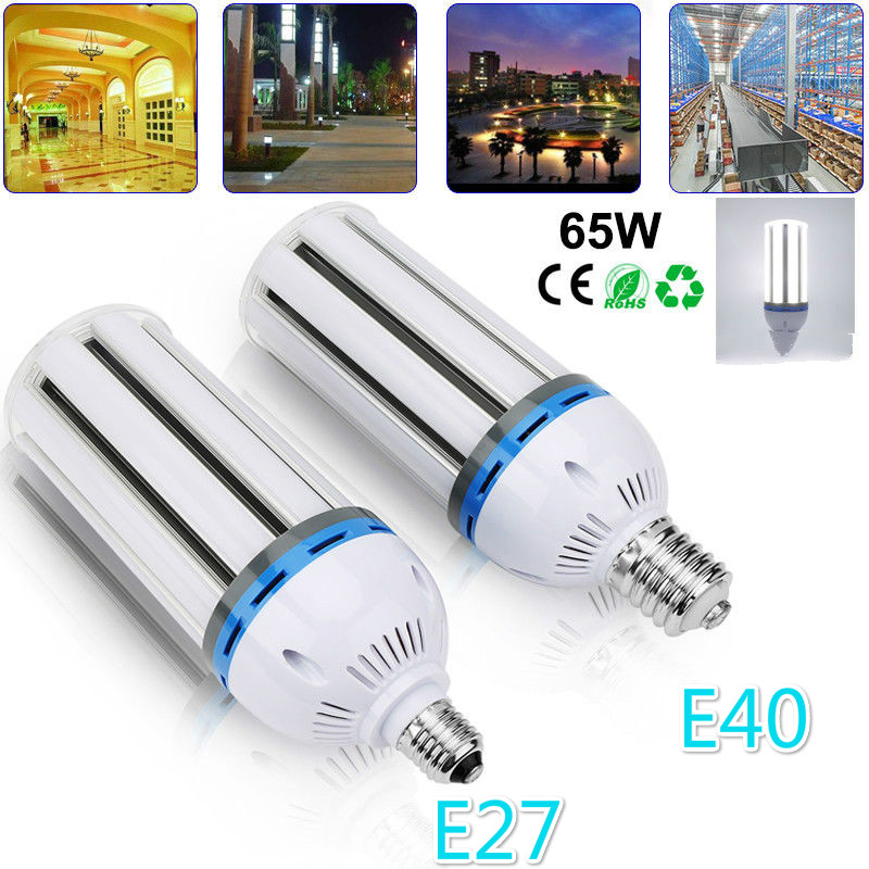 Details About 65W Led Corn Light Bulb Lamp E40 E27 Replacement Metal Halide CFL 6000K US