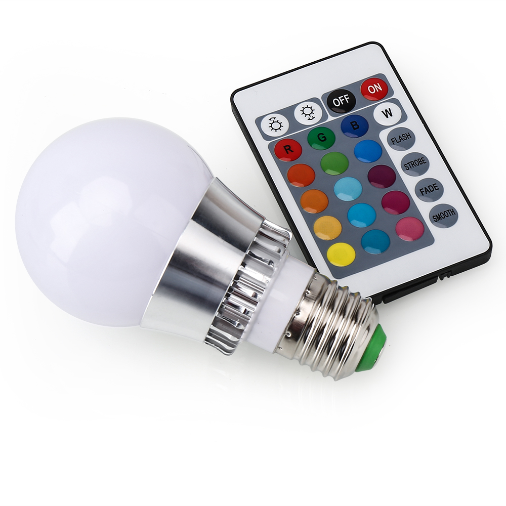 1 10x e27 5w rgb led light bulb dimmbar 16 color changing lamp ir remote control ebay. Black Bedroom Furniture Sets. Home Design Ideas