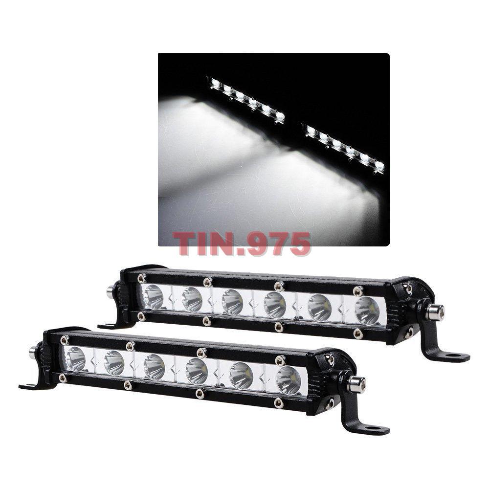 2pcs 18w cree spot beam ultra slim single led light bar work off road jeep truck ebay. Black Bedroom Furniture Sets. Home Design Ideas