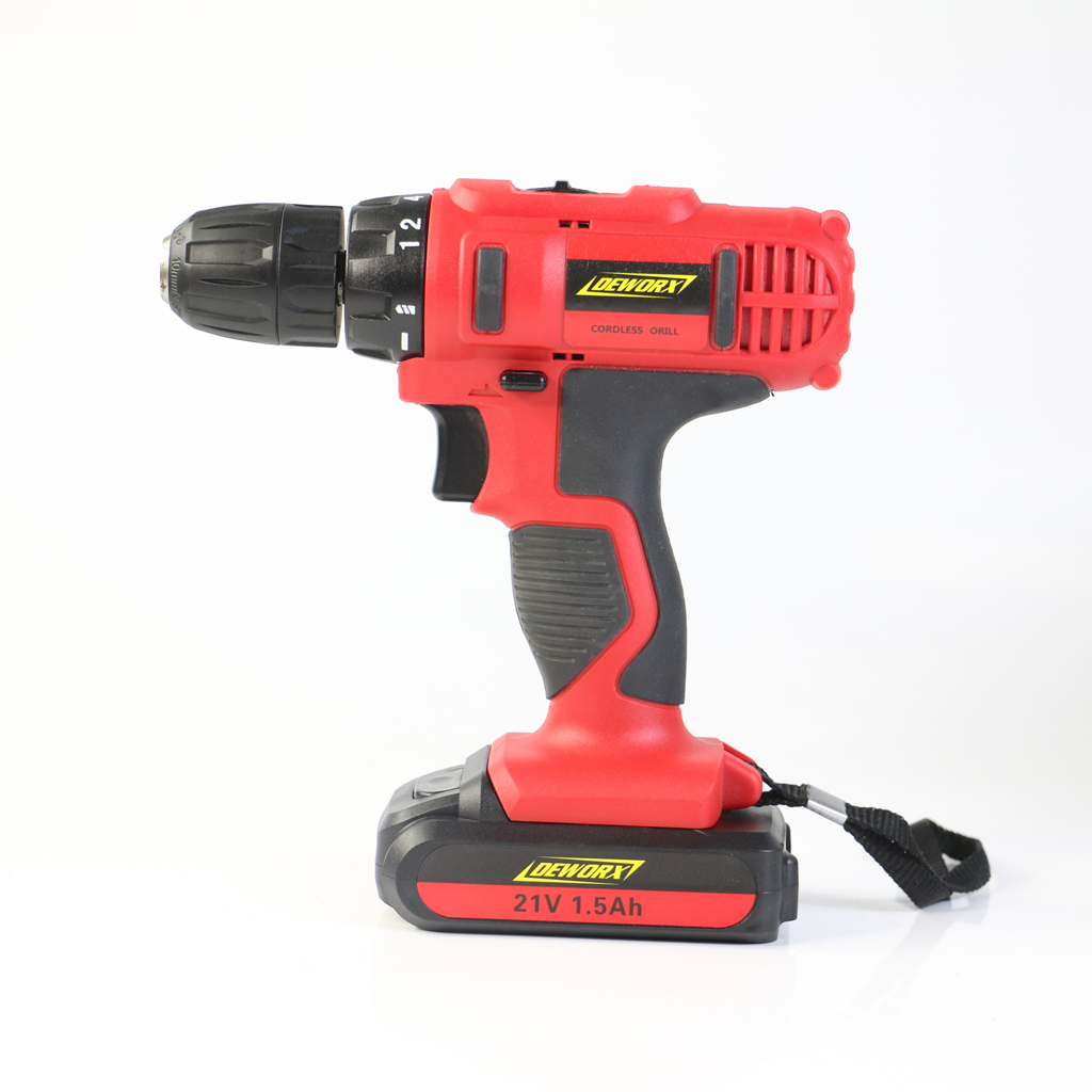 cordless dual drill impact driver 21v electric screwdriver 1.5ah