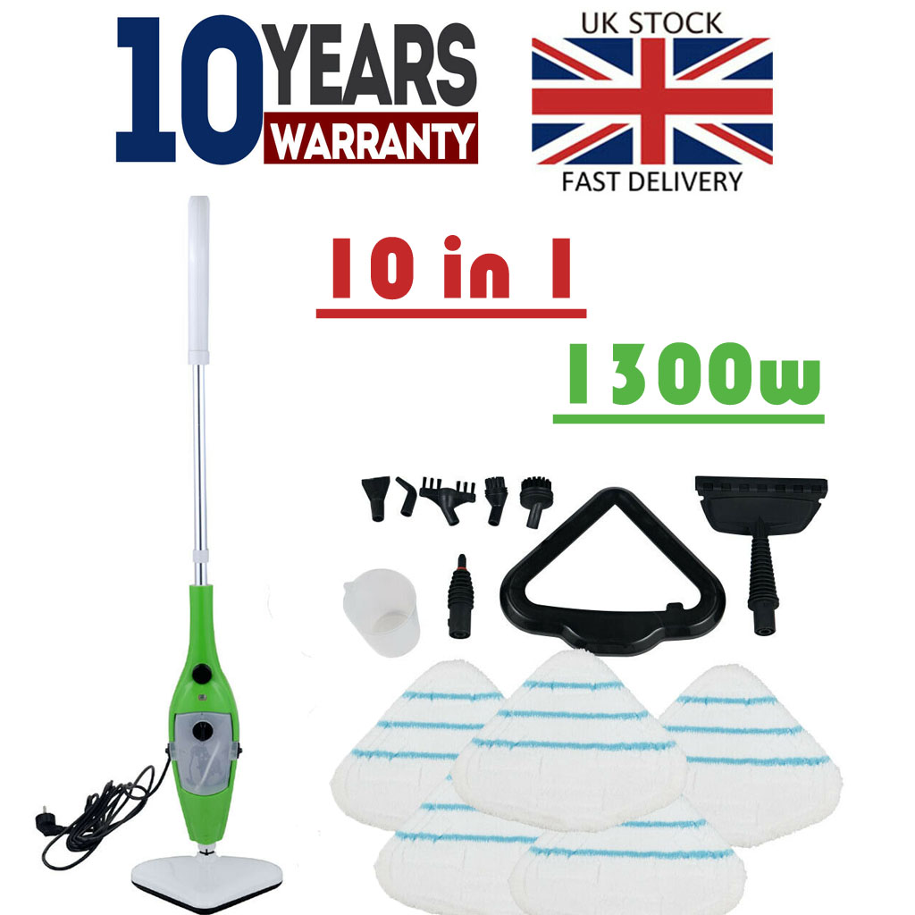 NEW CONDITION Green Neo 1500W 10 In 1 Steam Mop