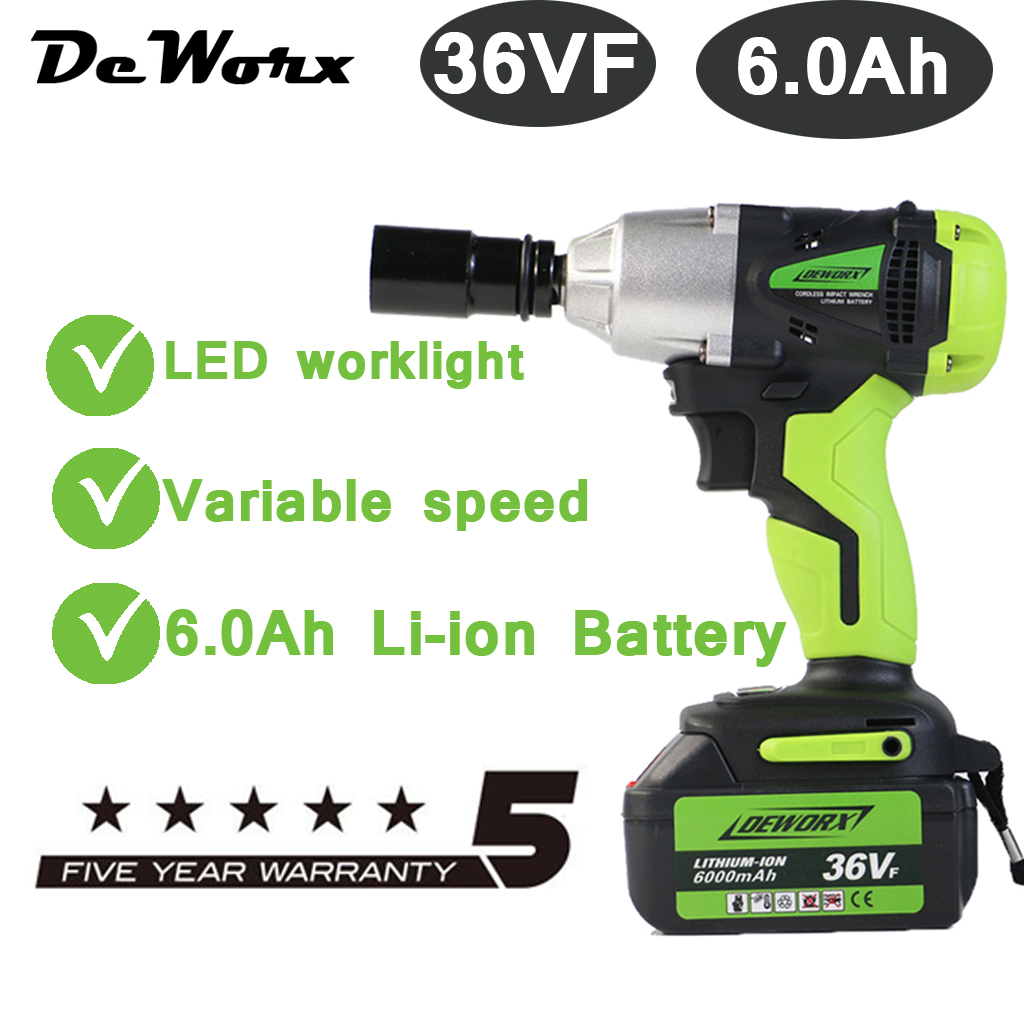 Details About Cordless Impact Wrench 21v Drive Li Ion Battery 6000mah 460nm W Led Light Case