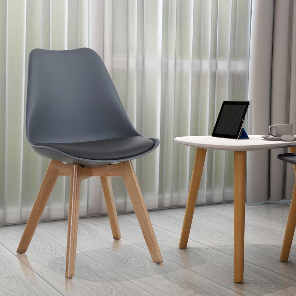 style home st hle 2er set esszimmer wartezimmer b ro grau holz sh23e10026 gra ebay. Black Bedroom Furniture Sets. Home Design Ideas