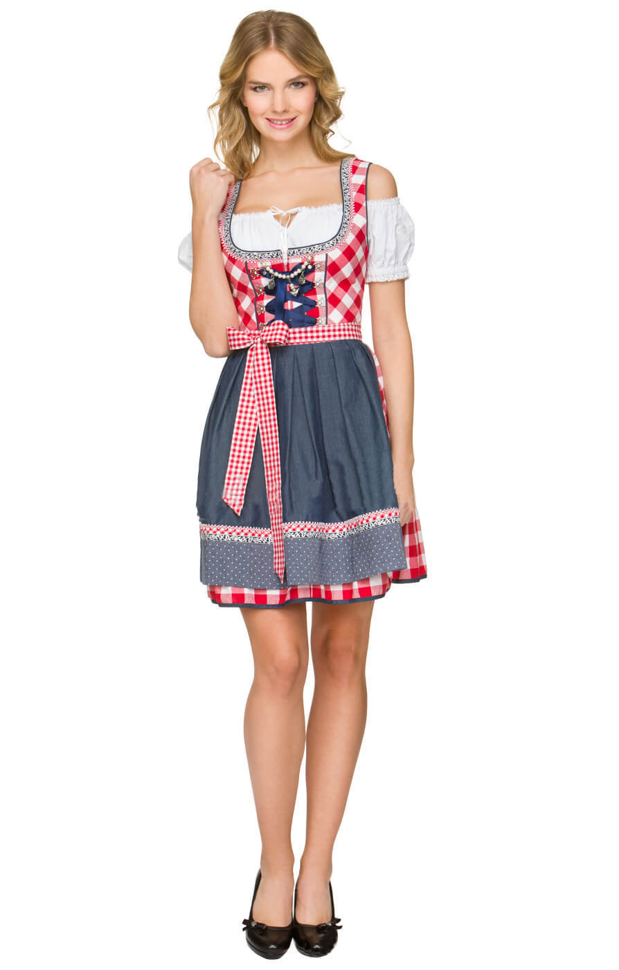 3tlg German Bavarian Traditional Dirndl Dress Womens ...