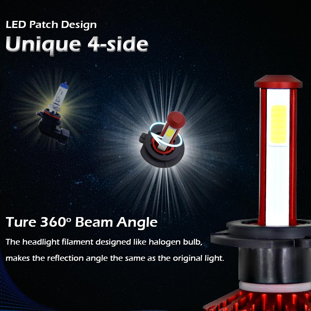 H7 H7 2000w 300000lm Led Headlight Kit High Low Beam