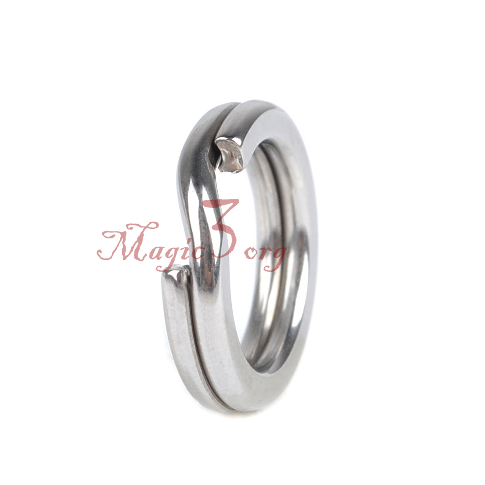 Manloong Nickel Black Forged Flat Extra Strong Split Ring #12