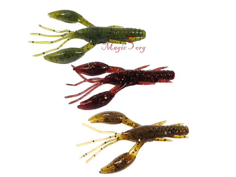 18x Bass Fishing Soft Craw Lure Shrimp 3