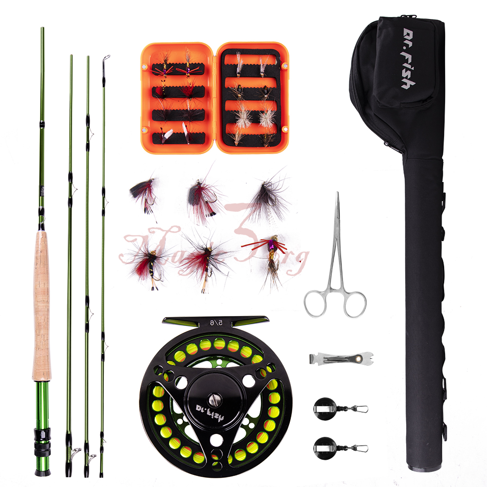 Fly Fishing Outfit Rod And Reel Combos 4 Pieces 9ft Carbon Fiber Portable Case Ebay