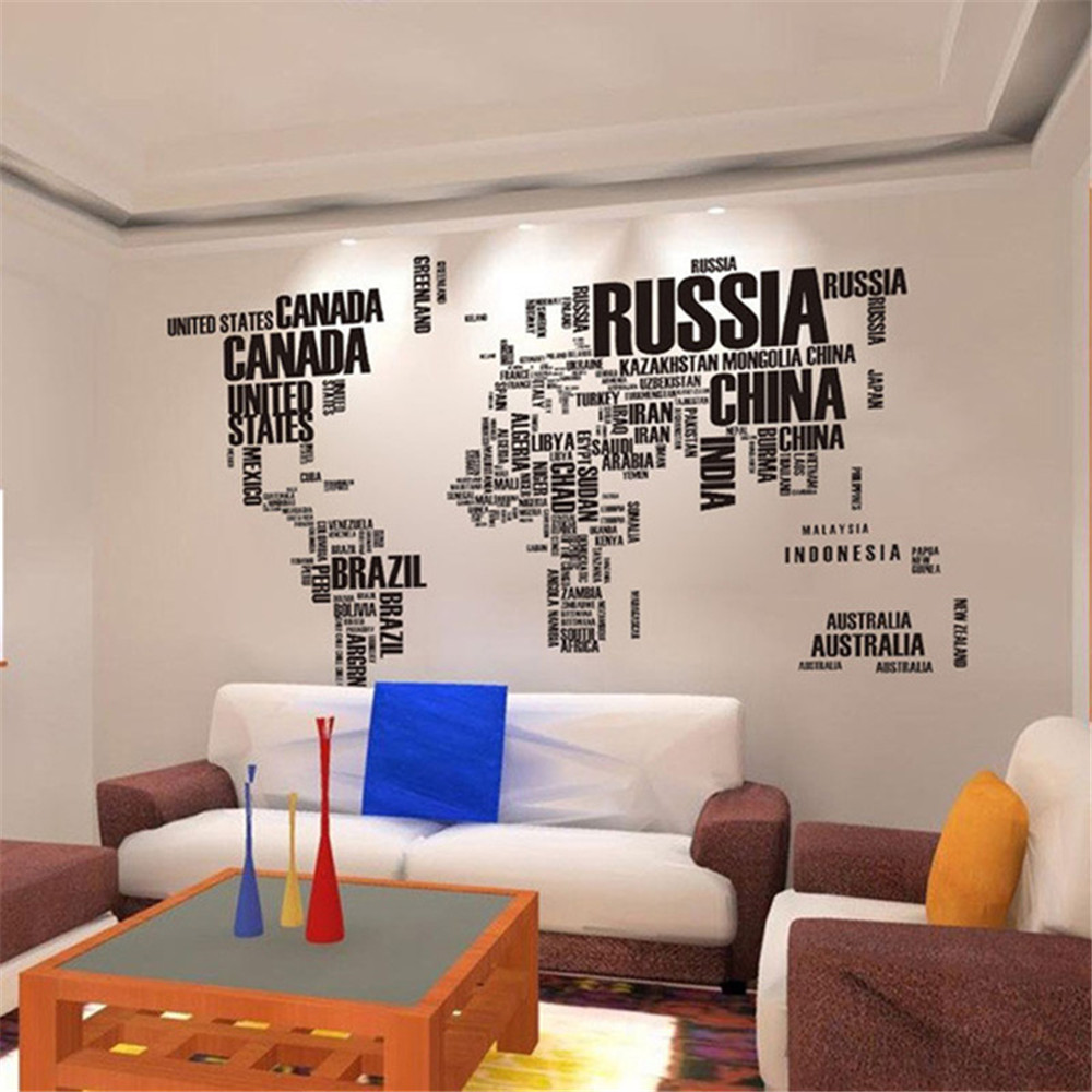 Diy english country name world map wall sticker decal office home diy english country name world map wall sticker decal office home living room decoration gumiabroncs Gallery