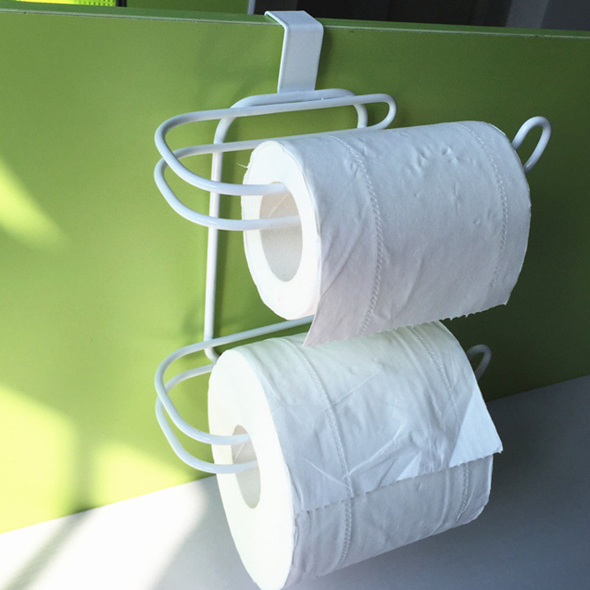 Horizontal Over The Tank Dual Bath Tissue Toilet Roll Paper Holder ...