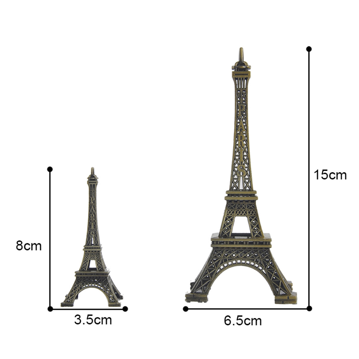 patung vintage dekorasi model 30 cm. Harga 3d Metal Miniature French Paris .