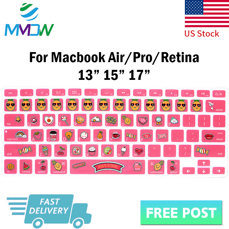 Sea Wave Keyboard Cover Silicone Skin Protector for MacBook Air Pro Retina 13 15