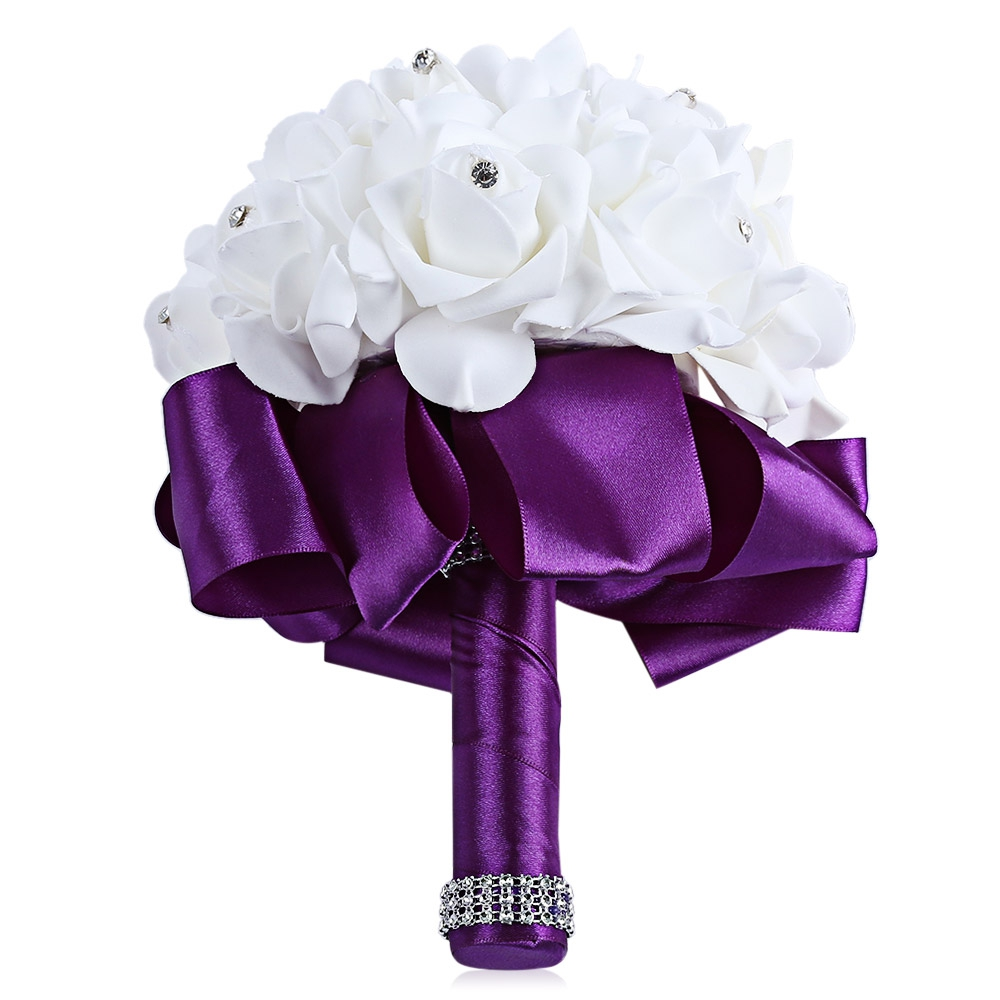 PE Foam Wedding Bouquet Bride Bridesmaid Holding Rose