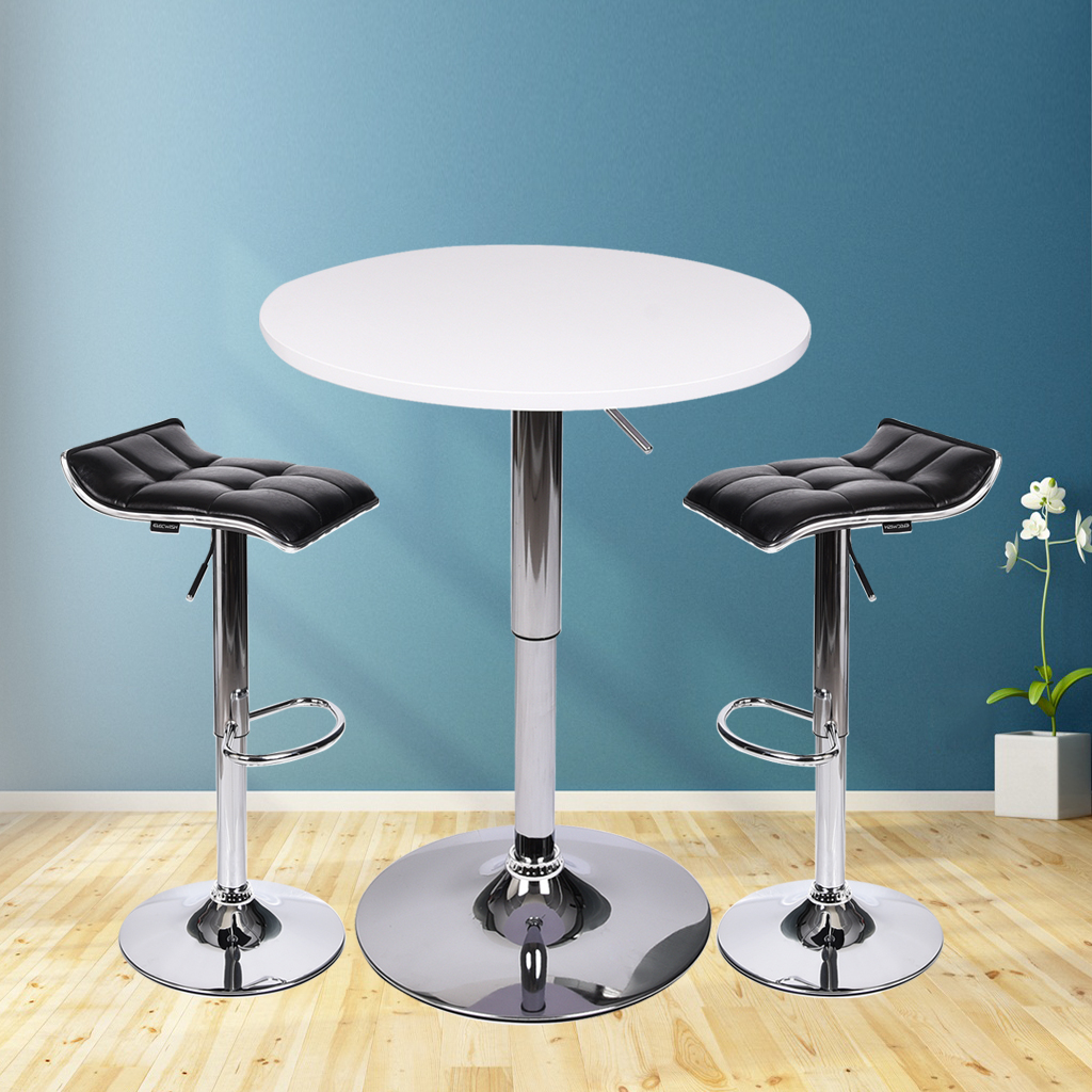 2 PCs Bar Stool Pu Leather Swivel Adjustable Kitchen Pub Dining ...
