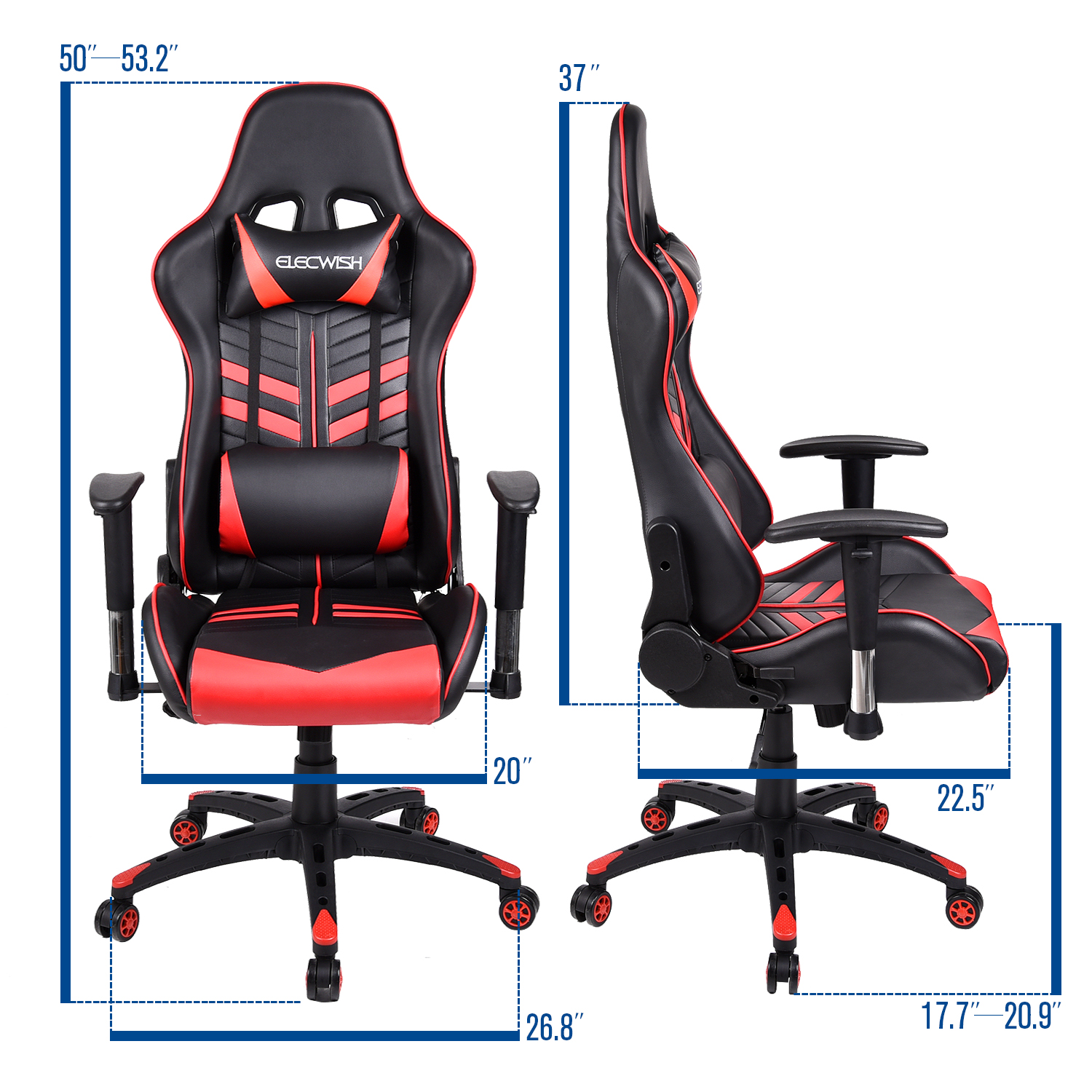 Racing Style Gaming Chair puter High Back PU Leather Ergonomic
