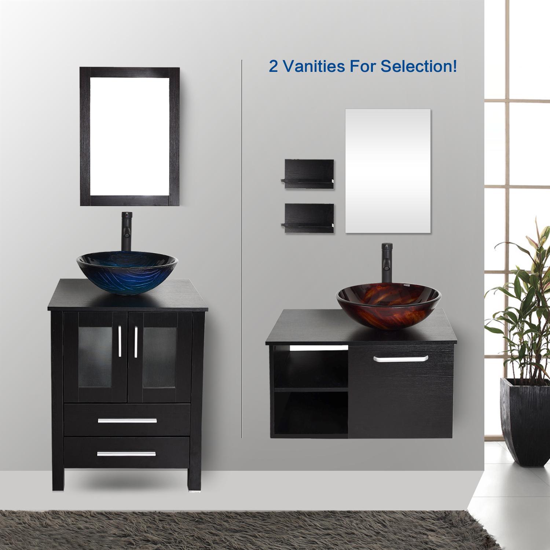 Peri bathroom accessories - Bathroom Vanity Cabinet Top Sink Single Basin W Mirror Marble Faucet 24 28