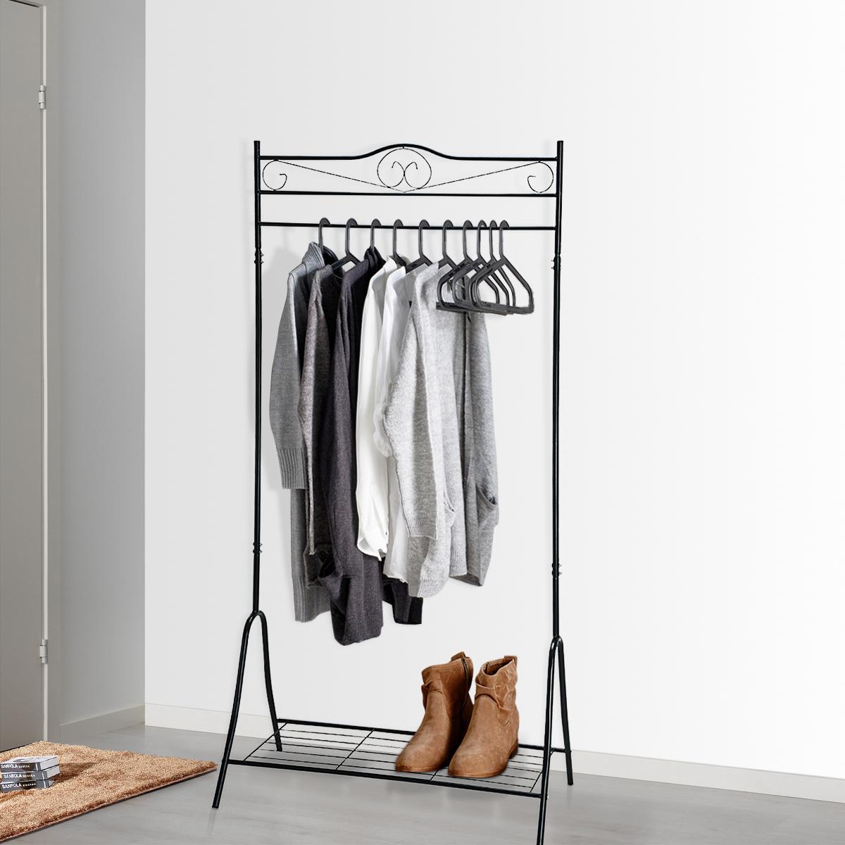 halterung kleiderstange metall wohn design. Black Bedroom Furniture Sets. Home Design Ideas