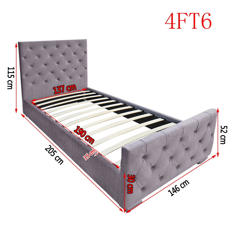 Matching-Buttons-Fabric-Bed-Frame-Upholstered-Bed-Frame-Grey-3ft-4ft6-5ft