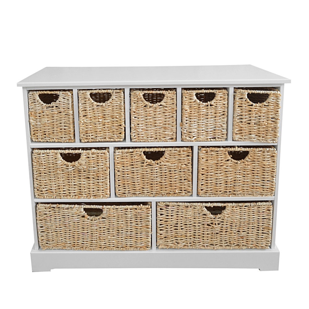 Buy Wicker Storage Basket Kitchen Drawer Style From The: Wicker Storage Unit Hallway Bathroom Cabinet Chest 10